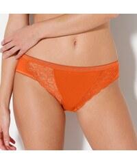 Blancheporte Kalhotky z pružné a prodyšné bavlny, midi, sada 3 ks indigo+žlutá+oranžová 38/40