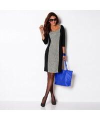Blancheporte Šaty úplet Milano černá/režná 36