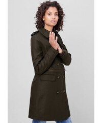 S.OLIVER RED LABEL Damen RED LABEL Wollmantel im Military-Style braun M (40),M (42),S (36),S (38),XS (34)