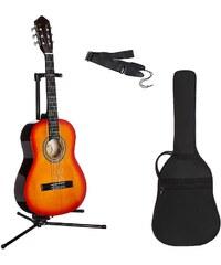 Kindergitarre für Rechts- und Linkshänder, »Konzertgitarren-Set 3/4«, MSA