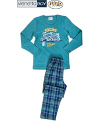 Vienetta Secret Dětské pyžamo dlouhé Auto Racing