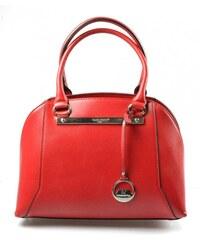 Elegantní kufříková červená bordó kabelka do ruky Oleni David Jones 14002