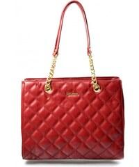 Elegantní prošívaná červená bordó kabelka Caliope David Jones 14040