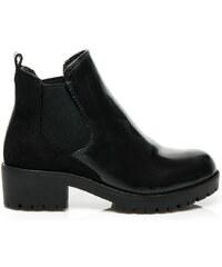 DOREMI Černé kotníčkové boty na podzim