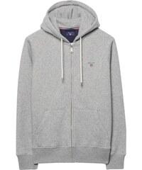GANT Sweat-shirt Zippé à Capuche - Grey Melange