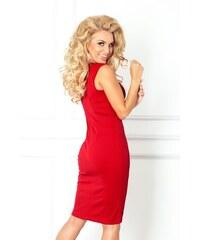 Numoco Dámske šaty 53-17 puzdrové červené e1e7149c390