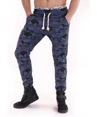 Hoody Pánské maskáčové kalhoty - modrá