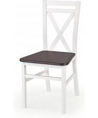 Jídelní židle Dariusz 2, bílá-ořech tmavý
