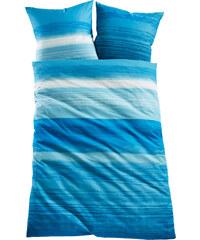 bpc living Bettwäsche Verlauf, Linon in blau von bonprix