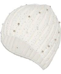 HALLHUBER Rippstrickmütze mit Perlen