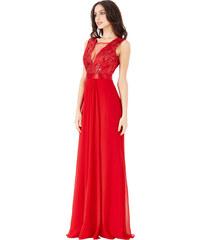 Goddess Dlouhé plesové šaty EMILY RED Barva: Červená,