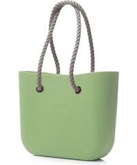 O bag kabelka pistáciová s natural provazovým držadlem