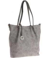 Michèle Boyard Damen Handtasche 3 in 1 Tasche grau aus Kunstleder