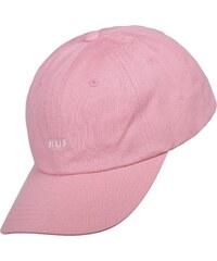 Huf Original Logo Curved Snapback pink