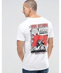 Deus Ex Machina - T-Shirt mit Cartoon-Print hinten - Weiß