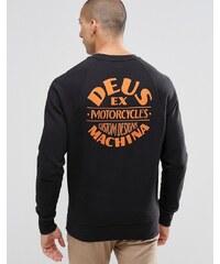 Deus Ex Machina - Sweatshirt mit Rücken-Print - Schwarz