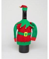 Paperchase - Weihnachtspullover mit Elfen-Motiv - Mehrfarbig
