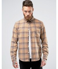 ASOS Wool Mix Checked Overshirt In Camel - Beige