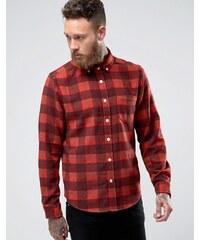 ASOS - Karierte Hemdjacke aus Wollmischung in Rot - Rot