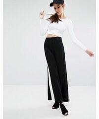 Kendall + Kylie - Hose mit weitem Kontrastbein - Mehrfarbig