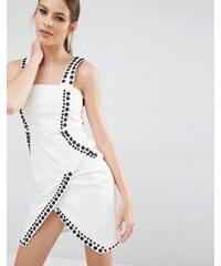 Kendall + Kylie - Kleid mit Ziernieten - Weiß