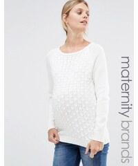 Mama.licious Mamalicious - Strukturierter Pullover - Weiß