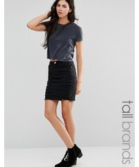 Missguided Tall - Gerippter Jeans-Minirock - Schwarz