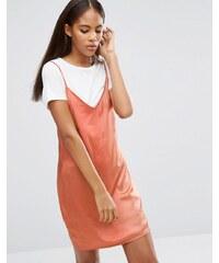 Missguided Tall - 2-in-1-Kleid aus Satin - Orange