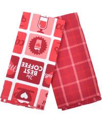Utěrka PATISSERIE, 2 kusy 100% bavlna, červená, 45x65 cm Essex