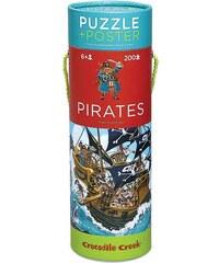 Crocodile Creek Puzzle a plakát - piráti