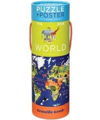 Crocodile Creek Puzzle a plakát - svět