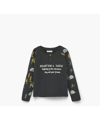 MANGO BABY T-Shirt Imprimé Message