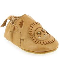 Chaussons de naissance Bébé fille Easy Peasy en Cuir Camel