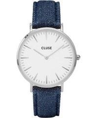 Montre Cluse La Bohème - Silver White/Blue Denim