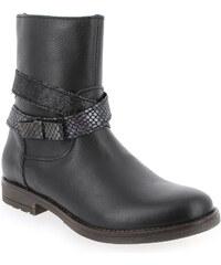 Boots Enfant fille Bana et Co en Cuir Noir