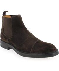 Boots Homme Christian Pellet en Cuir velours Marron