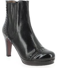 Boots Femme Rosemetal en Cuir Noir