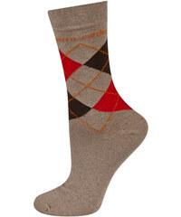 Dámské hnědé ponožky Pierre Cardin Argyle