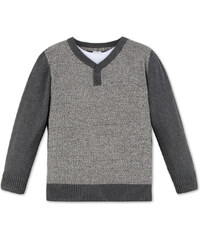 C&A Troyer-Pullover im 2-in-1-Look in Grau