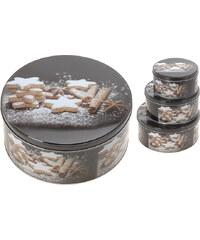 Lesara 3-teiliges Keksdosen-Set mit Plätzchenmotiv