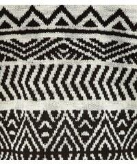 New Look Teenager – Weißer Strickkimono mit Azteken-Print