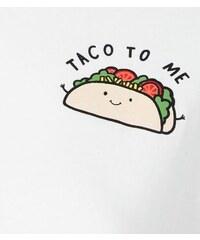 """New Look Teenager – Weißes Crop-Top mit """"Taco To Me""""-Aufdruck"""