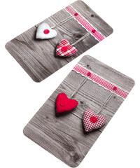 bpc living Plaques de protection Cœurs (Ens. 2 pces.) rouge maison - bonprix
