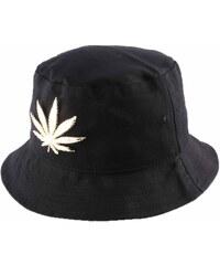 Jbb Couture Chapeau Bob noir avec feuille