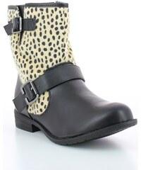 L.day Bottines Bottines imprimées léopard noires - Zonedachat