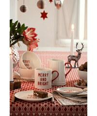 H&M Vánoční porcelánová miska