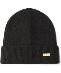 GANT Bonnet Uni En Coton Et Laine - Black