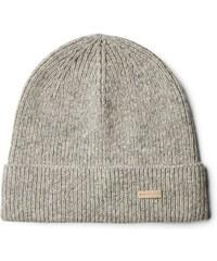 GANT Bonnet Uni En Coton Et Laine - Grey Melange