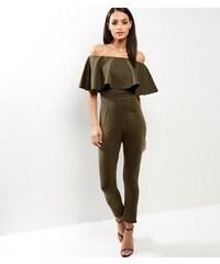 New Look Cameo Rose – Bardot-Jumpsuit mit Rüschen