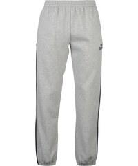 Lonsdale 2 Stripe Closed Hem Jogging Bottoms Mens, grey marl/navy